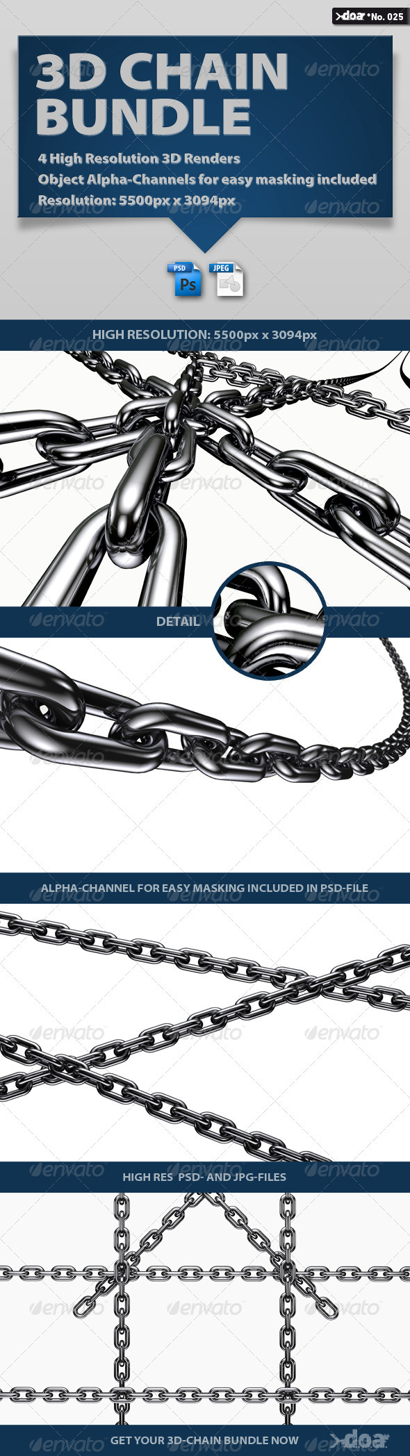 GraphicRiver 3D Chain Pack 482328
