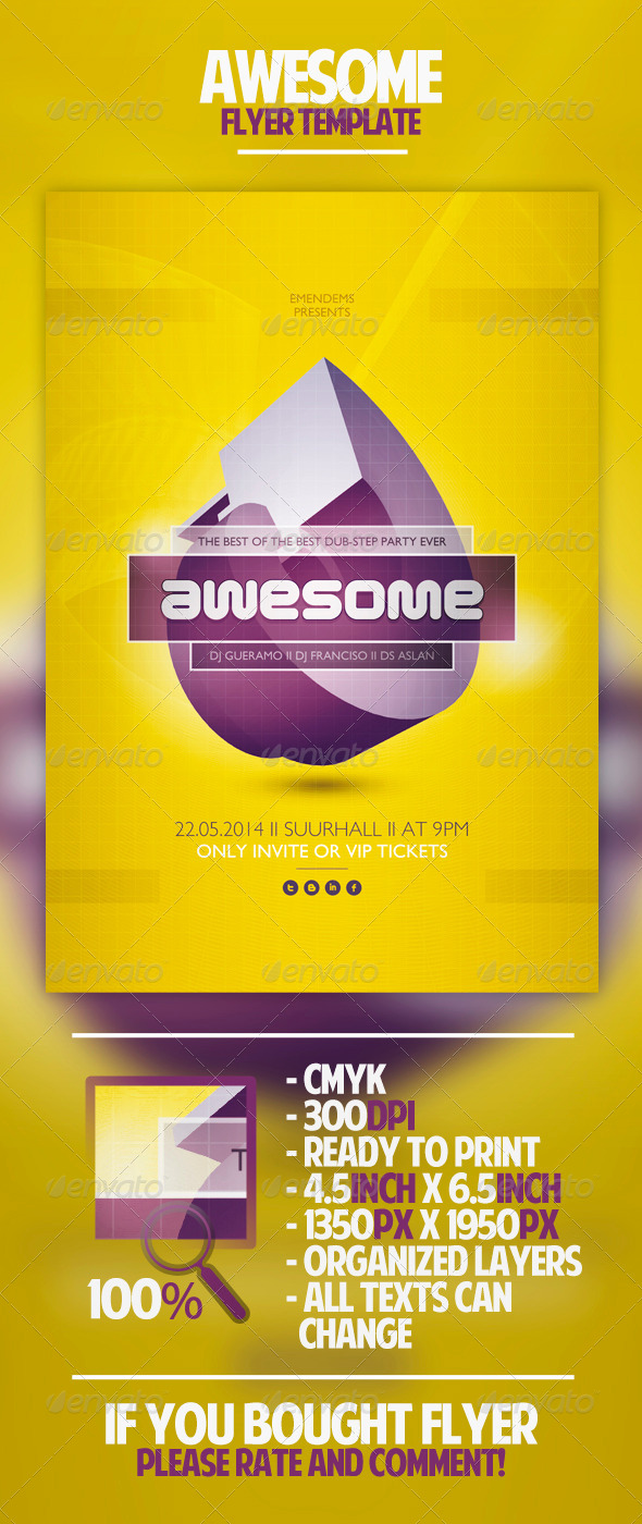 GraphicRiver Awesome Flyer Template 4608912