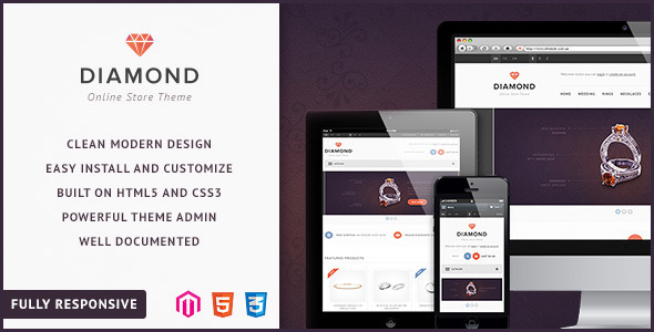 ThemeForest Diamond Responsive Magento Theme 4608963