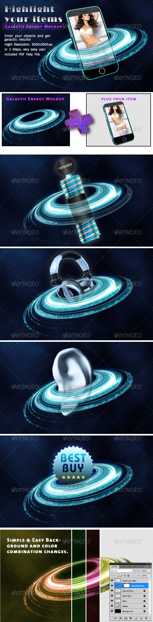 GraphicRiver Galaxy Energy Mockup 4609045