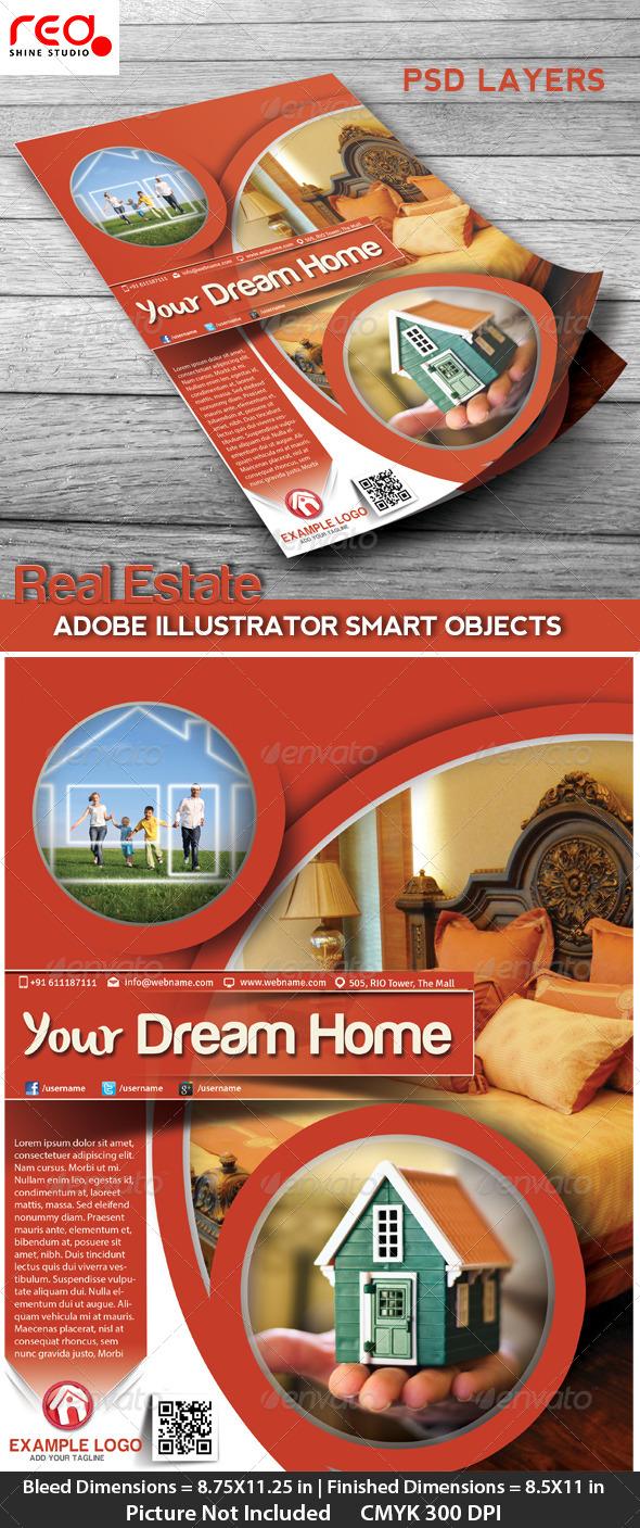 GraphicRiver Real Estate Flyer Poster & Magzine Cover Design 4609050