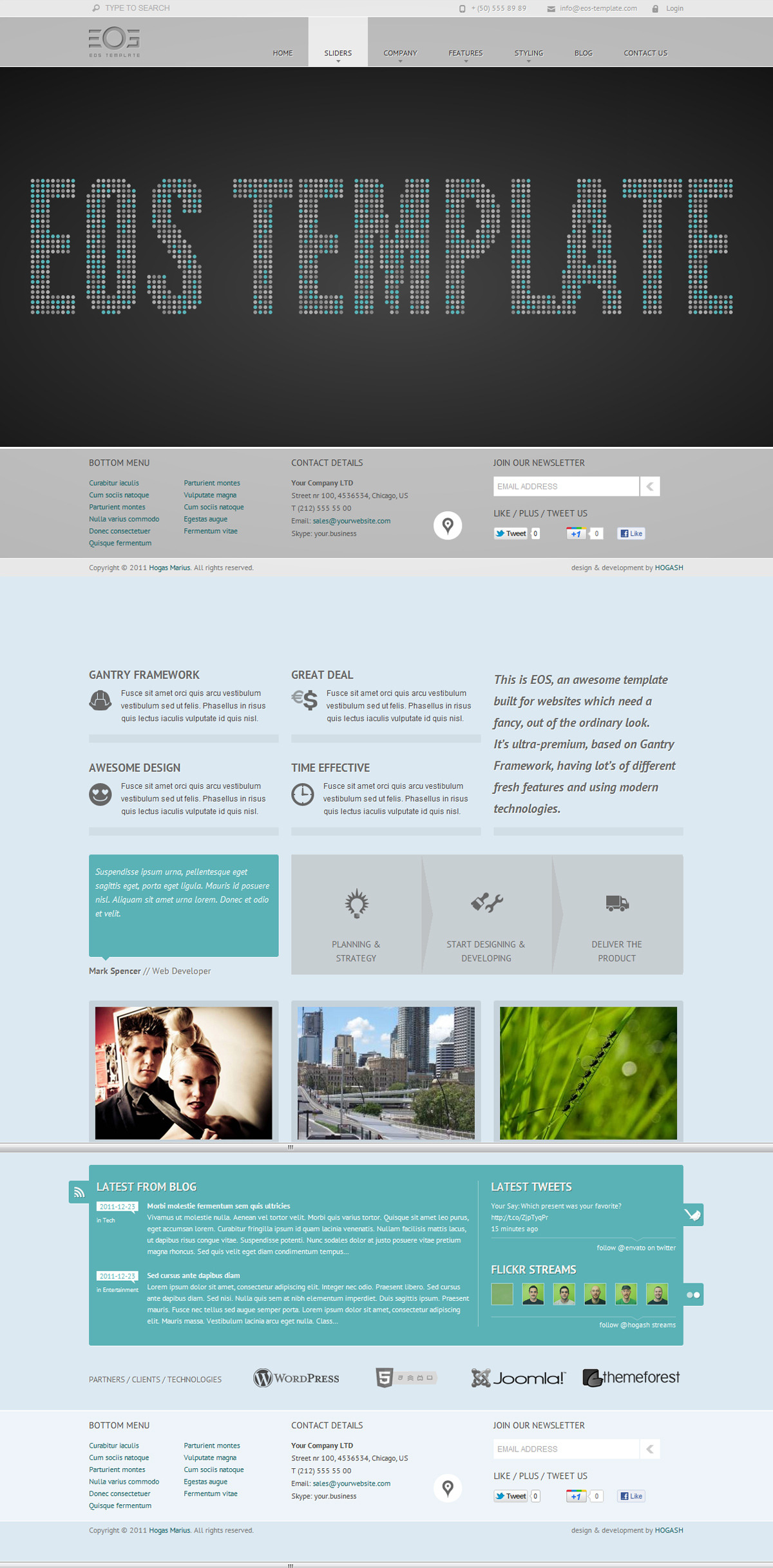 EOS - Template for Joomla - GENERAL PAGE - CLUSTER TEXT