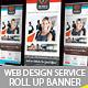 Web Design Service Roll Up Banner Signage - 1