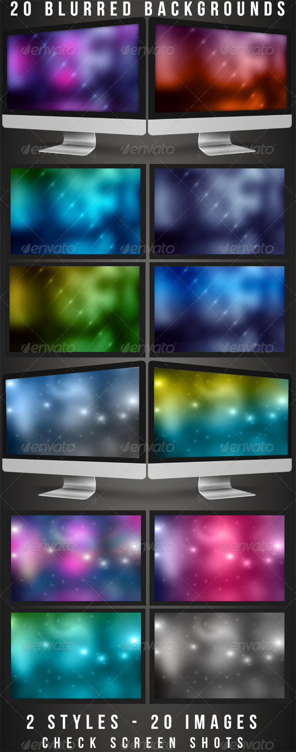 20 Blurred Backgrounds - Backgrounds Graphics