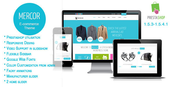 ThemeForest Mercor Responsive Prestashop Theme 4586293