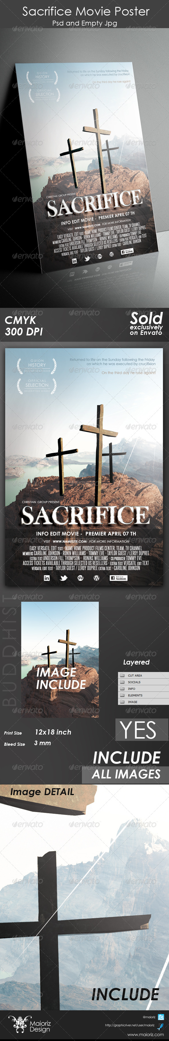 Sacrifice Movie Poster - Church Flyers