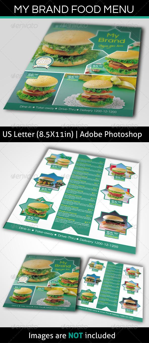 GraphicRiver My Brand Food Menu 4610811