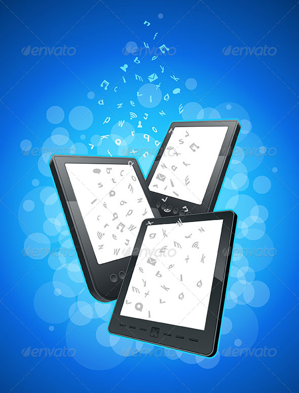 GraphicRiver Tablet Device E-book and Smart Phone 4610982