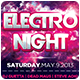 Electro Night Party Flyer Template - GraphicRiver Item for Sale