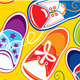 Seamless Pattern - Colored Children Gumshoes  - GraphicRiver Item for Sale