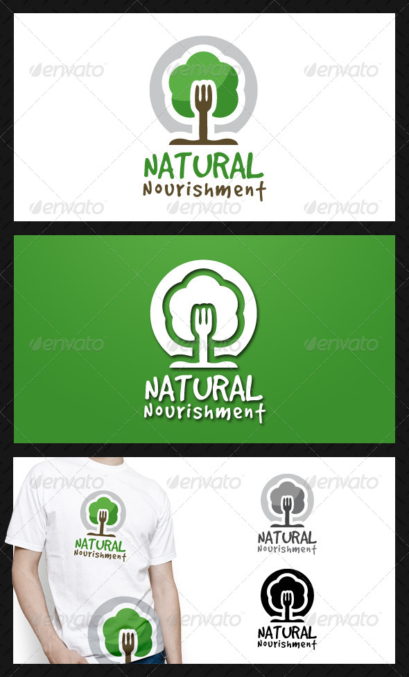GraphicRiver Natural Food Logo Template 4611429