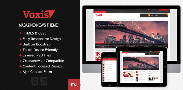 Voxis - Responsive Magazine / News HTML template