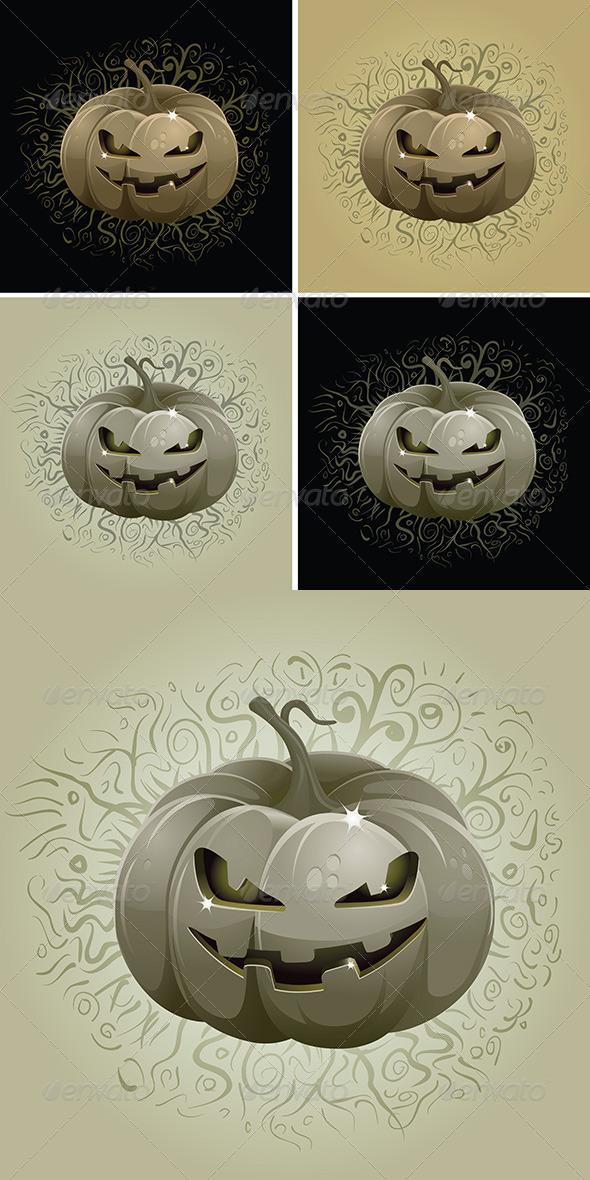 GraphicRiver Dark Pumpkin Set 4611497