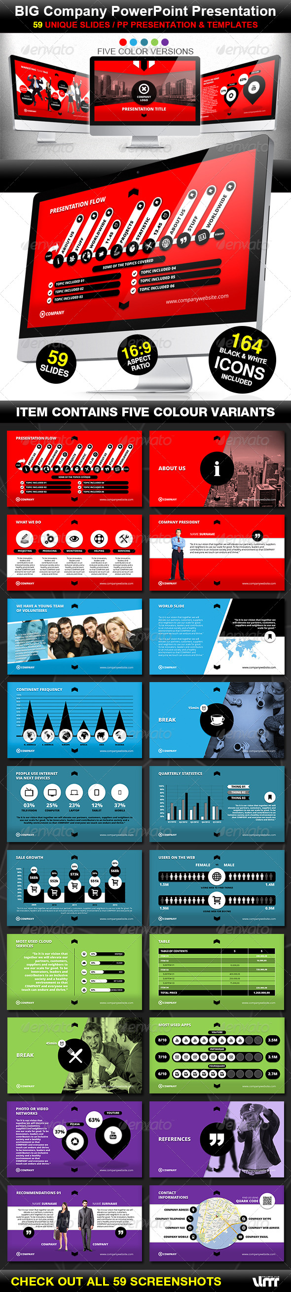 GraphicRiver Big Company PowerPoint Prezentation Template 4611580