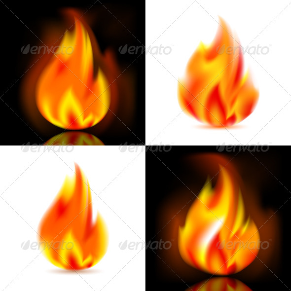 GraphicRiver Fire 4 Vector Flames 4611639