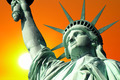 Statue of Liberty with Setting Sun - PhotoDune Item for Sale