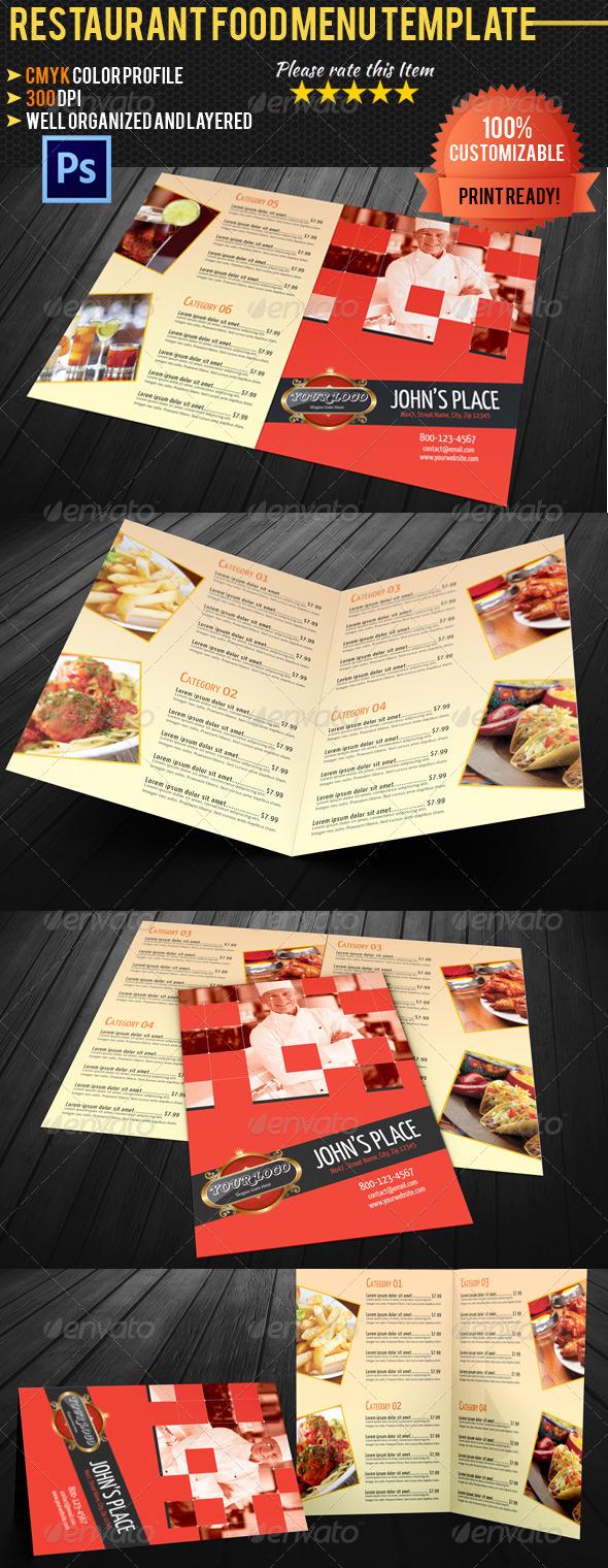 GraphicRiver Bi-fold Restaurant Food Menu Template 02 4612679