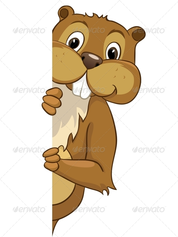 GraphicRiver Cartoon Character Beaver 4612856
