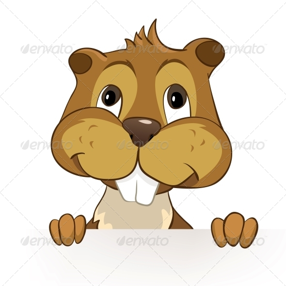 GraphicRiver Cartoon Character Beaver 4612857