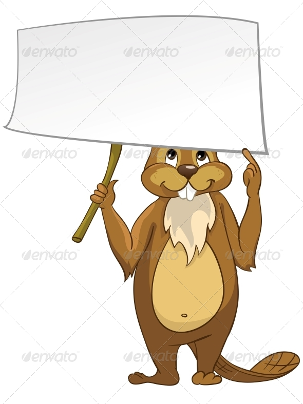 GraphicRiver Cartoon Character Beaver 4612862
