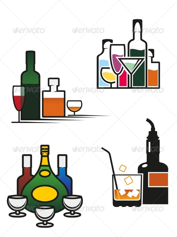 GraphicRiver Alcohol Drinks Set 4612880