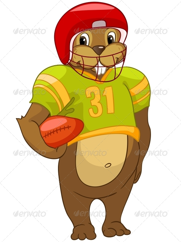 GraphicRiver Cartoon Character Beaver 4612954