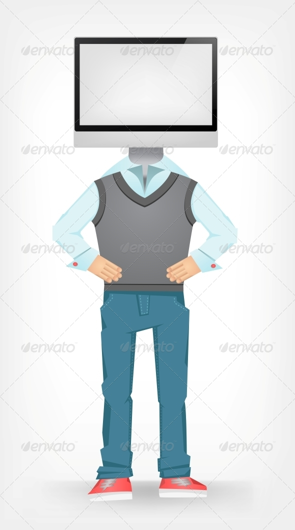 GraphicRiver Computer Guy 4613003