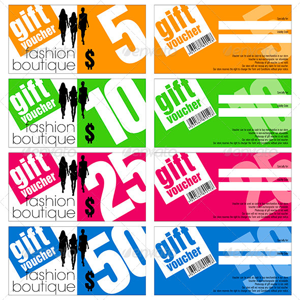 GraphicRiver Vector Gift Vouchers Set 4584051