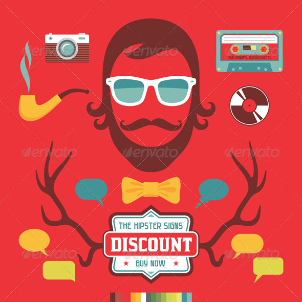 Hipster Retro Elements - Miscellaneous Characters