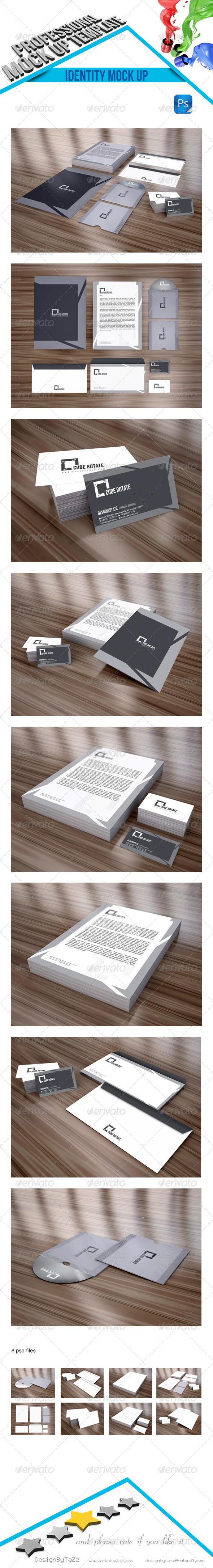 GraphicRiver Stationery Branding Mock-Up v2 4542155
