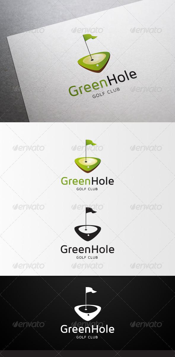 GraphicRiver GreenHole Golf Club Logo 4597322