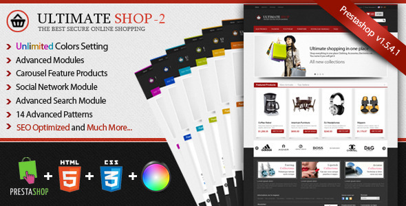 Ultimateshop Pro2 - Prestashop 1.5 Template - Shopping PrestaShop