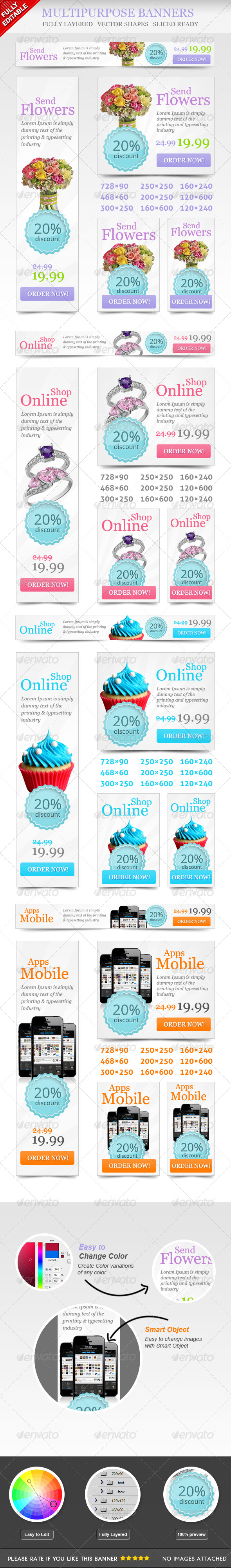 GraphicRiver Multipurpose Online Shop Banners 4613561