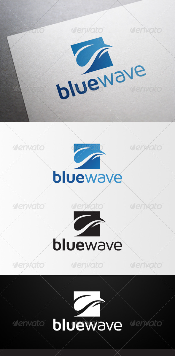 GraphicRiver Blue Wave Logo 4613570