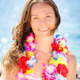 Woman with hawaiian flowers garland - PhotoDune Item for Sale