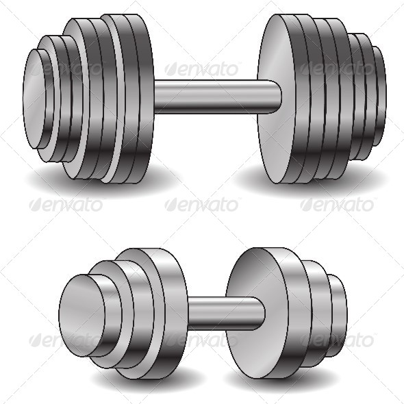 GraphicRiver Two Dumbbells 4614011