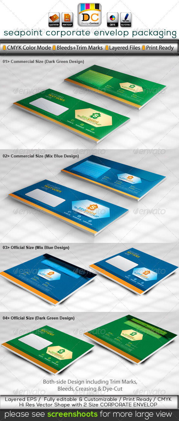 GraphicRiver Sea Point Envelop Packaging 4614348