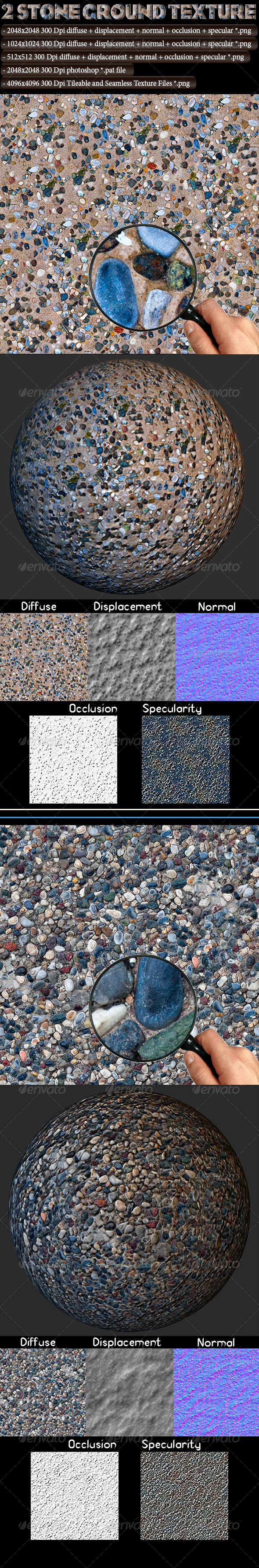 3DOcean 2 Stone Ground Texture 4614479