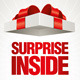 Surprise Inside Gift Box - GraphicRiver Item for Sale
