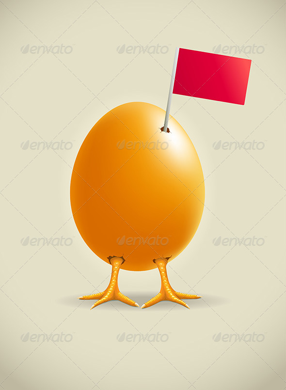 GraphicRiver Egg Legs with Flag 4614635