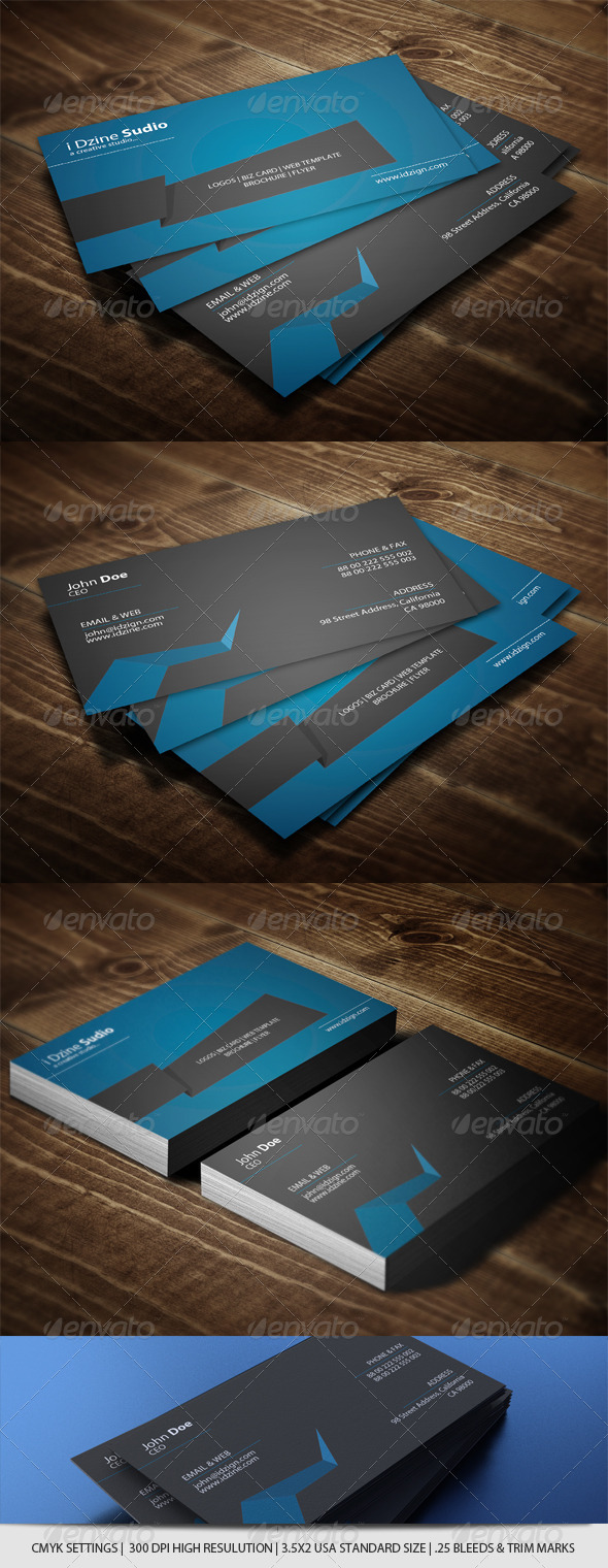 GraphicRiver Corporate Business Card 4615118