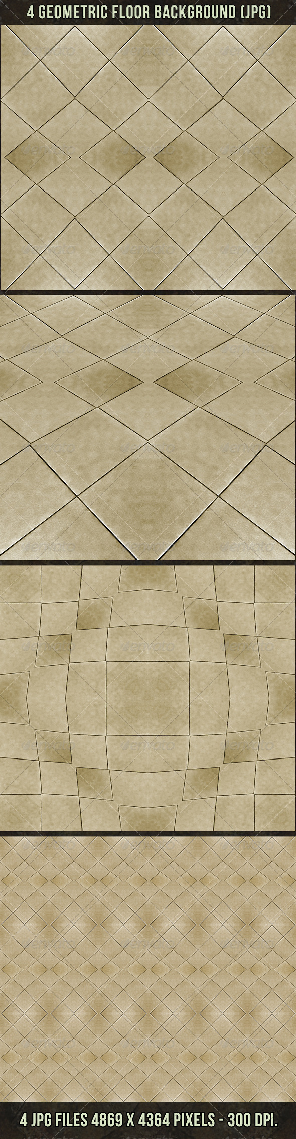 GraphicRiver 4 Geometric Floor Abstract Background 4615320