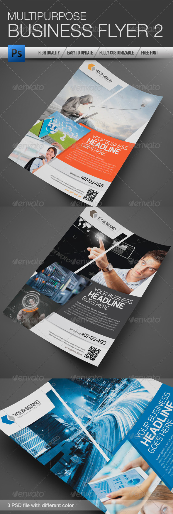 GraphicRiver Multipurpose Business Flyer 2 4615414