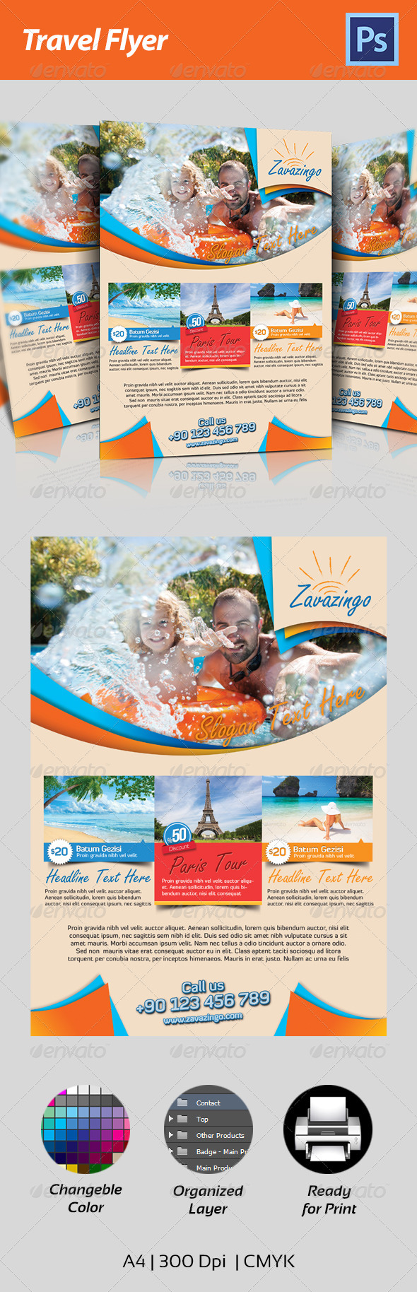 GraphicRiver Travel Flyer 4615732