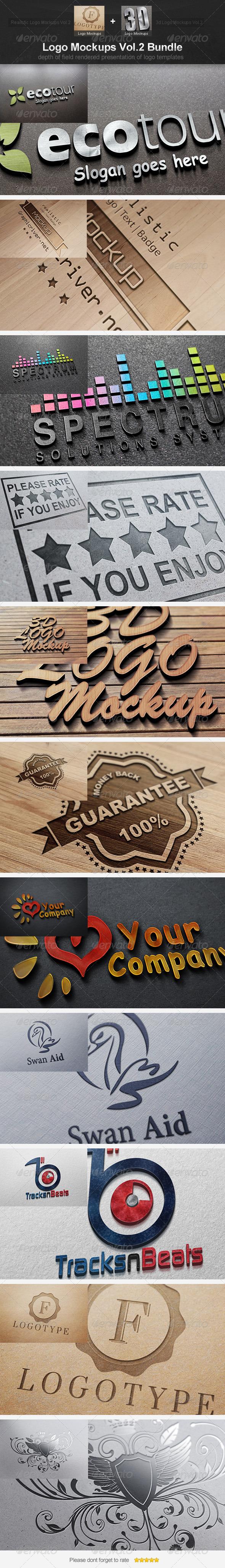 GraphicRiver Logo Mockups Vol.2 Bundle 4615828