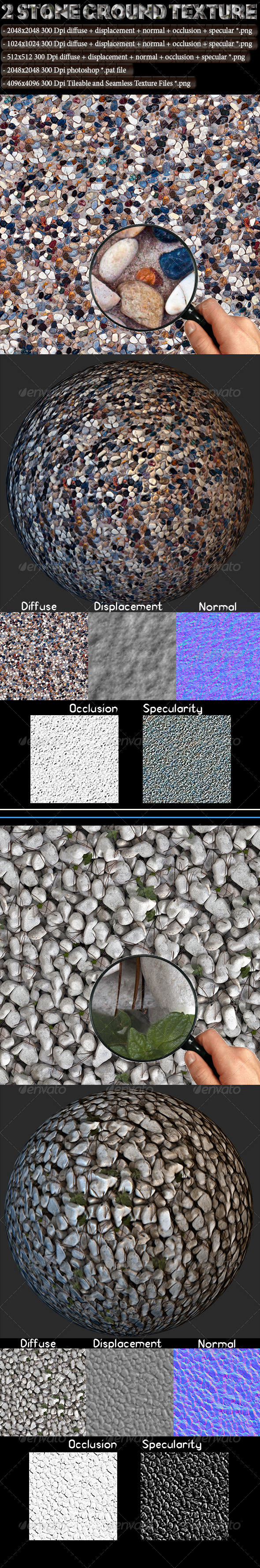 3DOcean 2 Stone Ground Texture 4615830