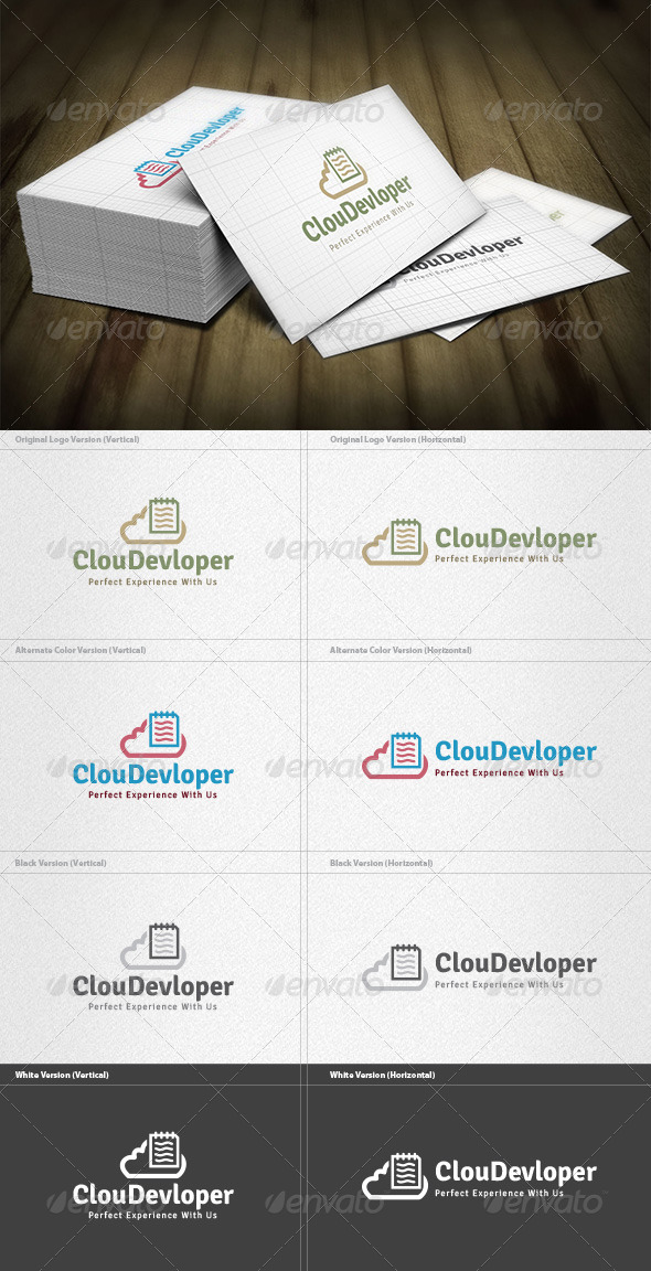 GraphicRiver Cloud Developer Logo 4615855