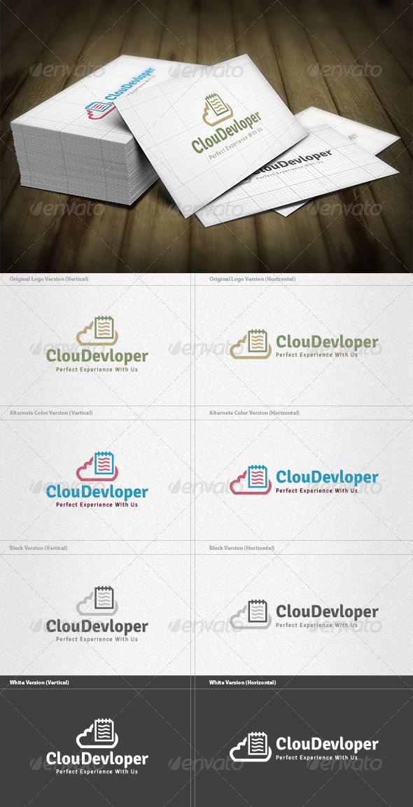 GraphicRiver Cloud Developer Logo 4615855