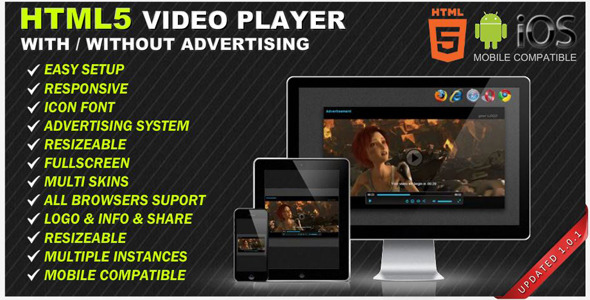 HTML5 Responsive Video Player & Advertising - CodeCanyon Item for Sale