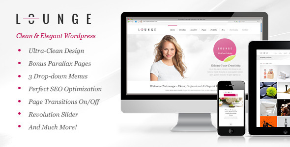 Lounge Clean Elegant WordPress Theme